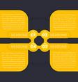 1234 step labels timeline infographics vector image vector image
