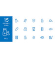 15 pill icons vector image vector image