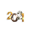 2021 golden bronze and silver bold letters logo vector image vector image