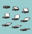 animation frames opens suitcase vector image vector image