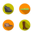 autumn black shoes on a high platform flip-flops vector image vector image