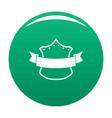 badge king icon green vector image vector image