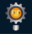 Big ideas graphic design with icons vector image vector image