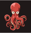 big octopus with eyes and a lot vector image