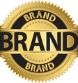 Brand gold label vector image