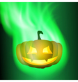Burning pumpkin vector image vector image
