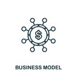 business model outline icon thin line concept vector image vector image