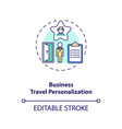 business travel personalization concept icon vector image