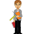 Cartoon teacher vector image vector image