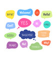 chat words bubbles colorful thinking balloon vector image