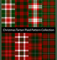 christmas tartan plaid pattern collection vector image vector image