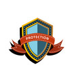 colorful shield vector image vector image