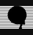 curly afro hair portrait african women striped vector image vector image