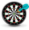 Dartboard with dart vector | Price: 1 Credit (USD $1)