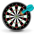 dartboard with dart vector image vector image