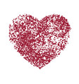 distress grunge heart vector image vector image