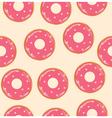 donuts pink vector image vector image
