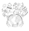 Doodles Ecology Concept vector image