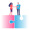 female and male cooperation concept businessman vector image