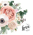 floral card elegant design with garden flower vector image vector image