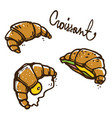 french croissants vector image vector image