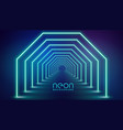 futuristic neon geometric lights stage background vector image vector image
