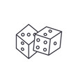 game of dice line icon concept game of dice vector image vector image