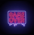 game popup game over neon sign game over neon vector image vector image