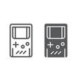 gameboy line and glyph icon leisure and play vector image vector image