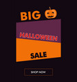 halloween sale vertical banner with oblique back vector image vector image
