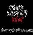 hand drawn dry brush lettering grunge style vector image vector image