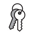 house key isolated on white background vector image vector image