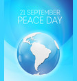 internationnal peace day concept vector image
