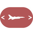 jet fighter icon airplane silhouette isolated on