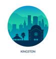 kingston jamaica famous city scape view vector image vector image