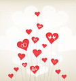 love background with hearts valentine day vector image vector image
