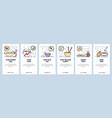 mobile app onboarding screens thai cuisine food vector image vector image