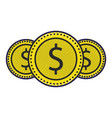 money coins currency cash dollar icon vector image vector image
