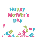 mothers day card alphabet vector image vector image
