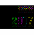 New year 2017 light effect vector image vector image