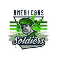 on a military theme soldier vector image vector image