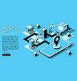 online shopping concept isometric concept vector image