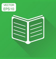 open book icon business concept study book vector image