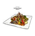 papaya salad or som-tum thai food hand draw vector image vector image