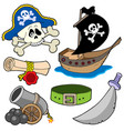 pirate collection 3 vector image