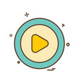 play button icon design vector image vector image