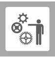 Project Icon from Commerce Buttons OverColor Set vector image