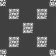 Qr code icon sign Seamless pattern on a gray vector image vector image