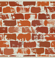 red on gray brick wall seamless pattern vector image