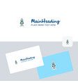rocket logotype with business card template vector image vector image